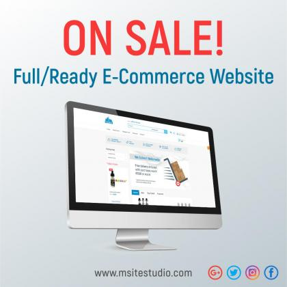 E-Commerce Website for sale
